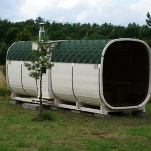 Firkantet sauna
