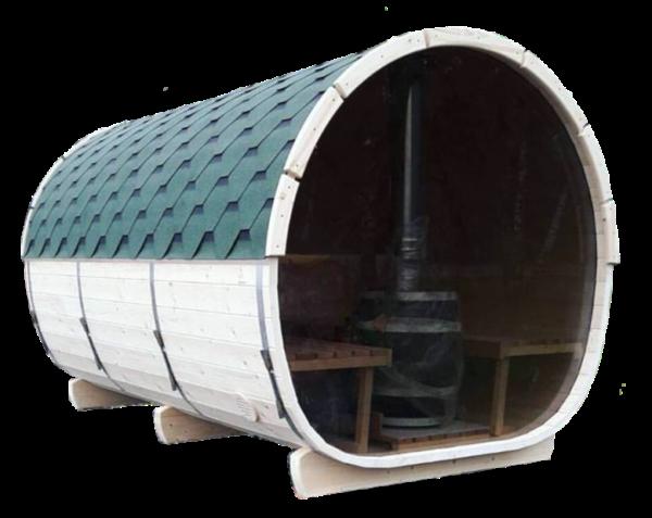 Udvidet tønde sauna